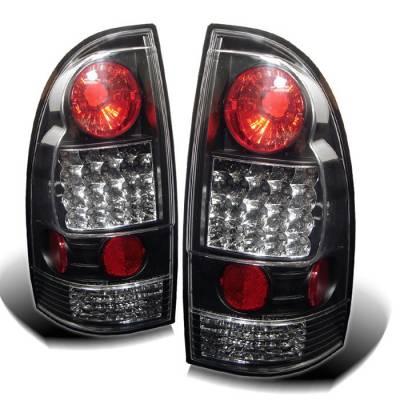 Spyder - Toyota Tacoma Spyder LED Taillights - Black - 111-TT05-LED-BK