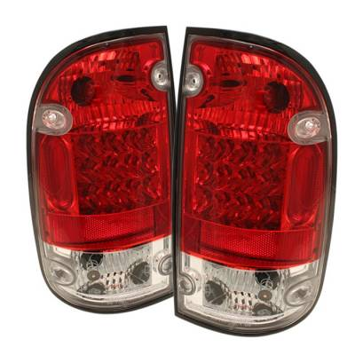 Spyder - Toyota Tacoma Spyder LED Taillights - Red Clear - 111-TT95-LED-RC