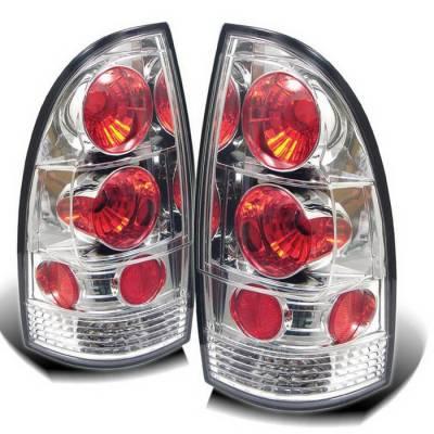Spyder Auto - Toyota Tacoma Spyder Taillights - Chrome - 111-TTU07-LED-BSM