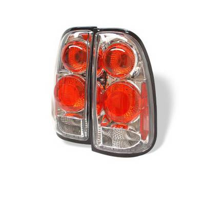 Spyder Auto - Toyota Tundra Spyder Altezza Taillights - Chrome - 111-VG03-LED-BK