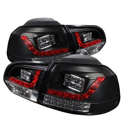 Spyder - Volkswagen Golf GTI Spyder LED Taillights - Black - 111-VG10-LED-BK