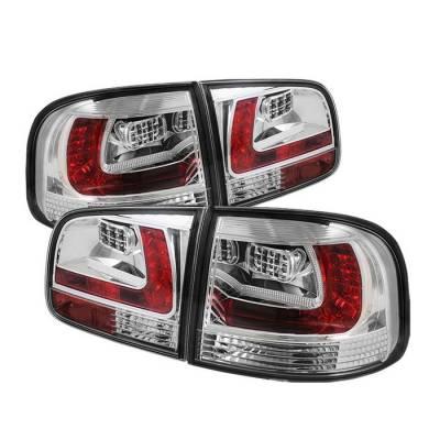 Spyder - Volkswagen Touareg Spyder LED Taillights - Chrome - 111-VTOU04-LED-C