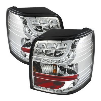 Spyder Auto - Volkswagen Passat Spyder LED Light Bar Taillights - Chrome - 444-AA495-HL-C