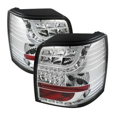 Spyder Auto - Volkswagen Passat Spyder LED Taillights - Chrome - 444-ADA601-DRL-BK