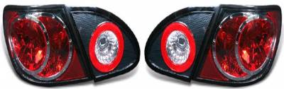 TYC - TYC Euro Taillights with Carbon Fiber Housing - 81-5765-31
