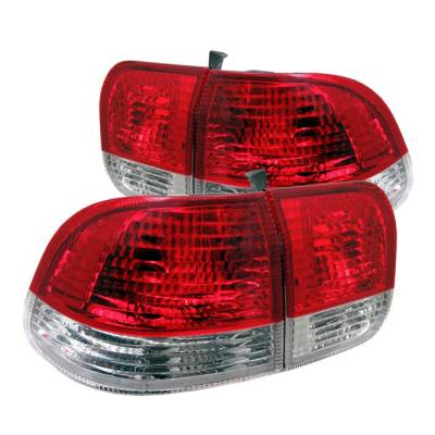 Spyder - Honda Civic 4DR Spyder Taillights - Red Clear - ALT-CL-HC96-4D-RC
