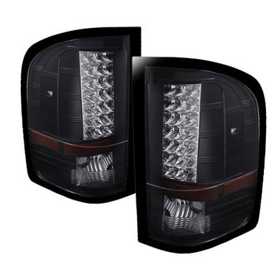 Spyder - Chevrolet Silverado Spyder LED Taillights - Black - ALT-JH-CS07-LED-BK