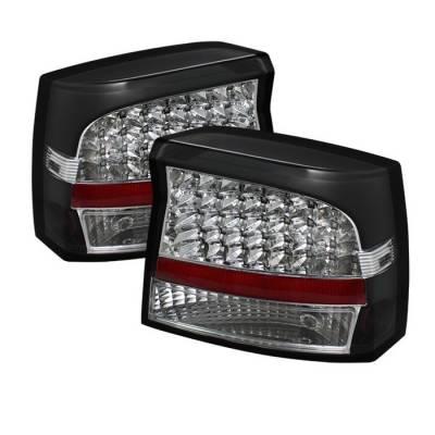 Spyder - Dodge Charger Spyder LED Taillights - Black - ALT-JH-DCH05-LED-BK