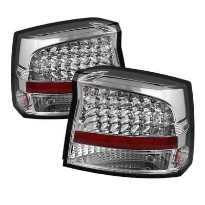 Spyder - Dodge Charger Spyder LED Taillights - Chrome - ALT-JH-DCH09-LED-C