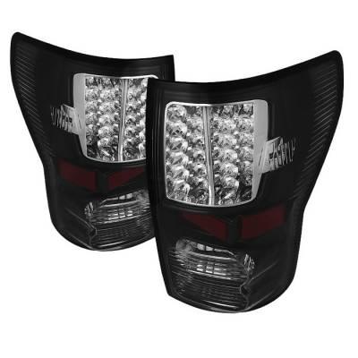 Spyder - Toyota Tundra Spyder LED Taillights - Black - ALT-JH-TTU07-LED-BK