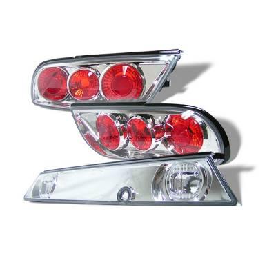 Spyder - Nissan 240SX Spyder Euro Taillights - Chrome - 3PC - ALT-JY-N240SX89H-C