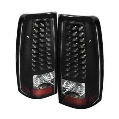 Spyder - Chevrolet Silverado Spyder LED Taillights - Black - ALT-ON-CS03-LED-BK