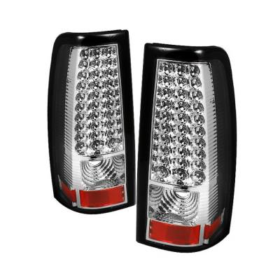 Spyder - Chevrolet Silverado Spyder LED Taillights - Chrome - ALT-ON-CS03-LED-C
