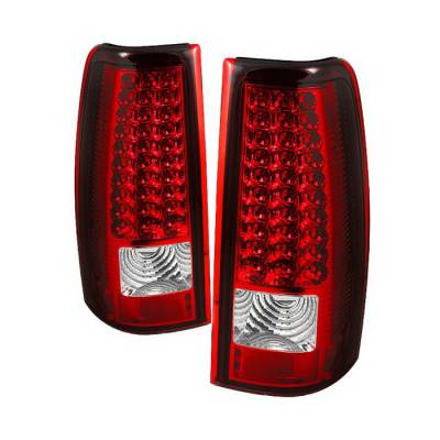 Spyder Auto - GMC Sierra Spyder LED Taillights - Red Clear - ALT-ON-CS03-LED-RC