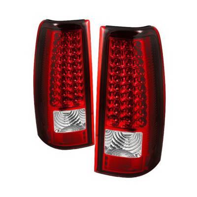 Spyder Auto - Chevrolet Silverado Spyder LED Taillights - Red Clear - ALT-ON-CS03-LED-RC