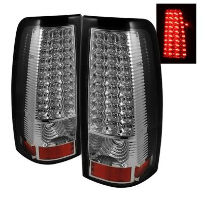 Spyder - Chevrolet Silverado Spyder LED Taillights - Chrome - ALT-ON-CS99-LED-C