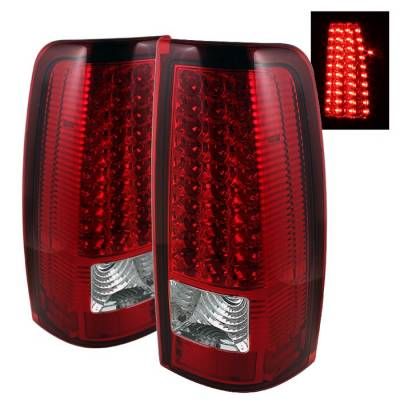 Spyder - Chevrolet Silverado Spyder LED Taillights - Red Clear - ALT-ON-CS99-LED-RC