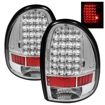 Spyder - Plymouth Voyager Spyder LED Taillights - Chrome - ALT-ON-DC96-LED-C