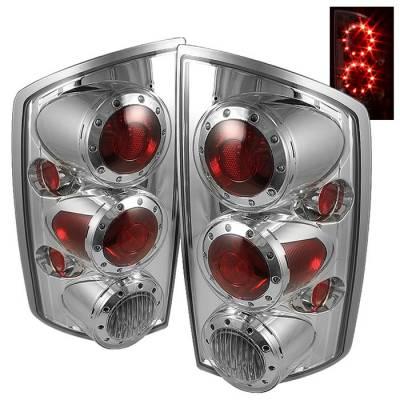 Spyder - Dodge Ram Spyder LED Taillights - Chrome - ALT-ON-DRAM02-LED-C
