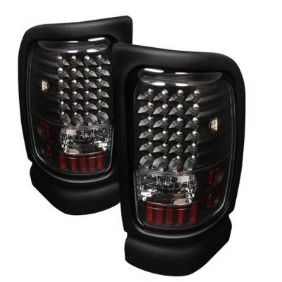 Spyder Auto - Dodge Ram Spyder LED Taillights - Black - ALT-ON-DRAM94-LED-BK