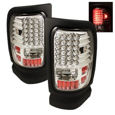 Spyder - Dodge Ram Spyder LED Taillights - Chrome - ALT-ON-DRAM94-LED-C