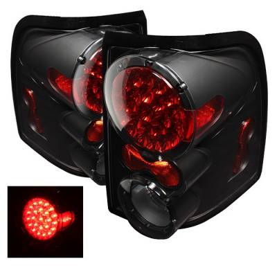 Spyder - Ford Explorer Spyder LED Taillights - Black - ALT-ON-FEXP02-LED-BK