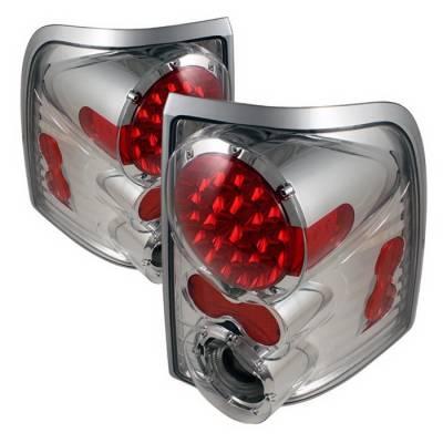 Spyder Auto - Ford Explorer Spyder LED Taillights - Chrome - ALT-ON-FEXP02-LED-C
