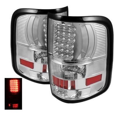 Spyder - Ford F150 Spyder LED Taillights - Chrome - ALT-ON-FF15004-LED-C