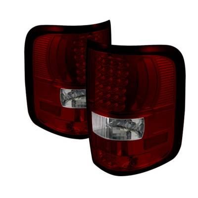 Spyder - Ford F150 Spyder LED Taillights - Red Clear - ALT-ON-FF15004-LED-RC
