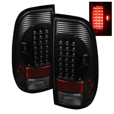 Spyder - Ford F350 Superduty Spyder LED Taillights - Black - ALT-ON-FF15097-LED-BK
