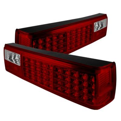 Spyder - Ford Mustang Spyder LED Taillights - Red Clear - ALT-ON-FM87-LED-RC