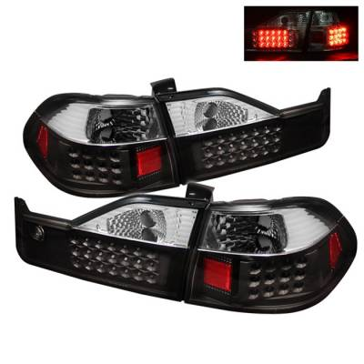 Spyder Auto - Honda Accord 4DR Spyder LED Taillights - Black - ALT-ON-HA98-LED-BK