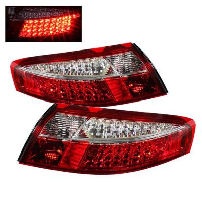 Spyder - Porsche 911 Spyder LED Taillights - Red Clear - ALT-ON-P99699-LED-RC
