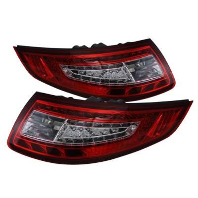 Spyder - Porsche 911 Spyder LED Taillights - Red Clear - ALT-ON-P99705-LED-RC