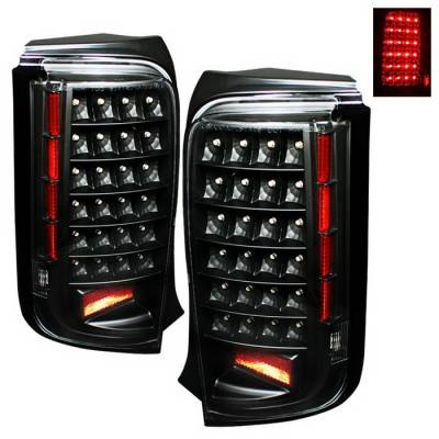 Spyder Auto - Scion xB Spyder LED Taillights - Black - ALT-ON-TSXB08-LED-BK