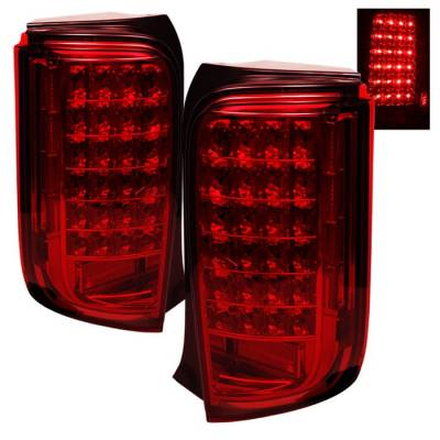 Spyder - Scion xB Spyder LED Taillights - Red - ALT-ON-TSXB08-LED-R