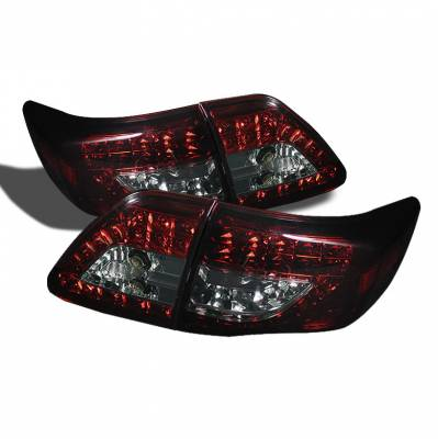 Spyder Auto - Toyota Corolla Spyder LED Taillights - Red Smoke - ALT-YD-TC09-LED-G2-RS