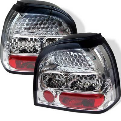 Spyder Auto - Volkswagen Golf Spyder LED Taillights - Chrome - ALT-YD-VG92-LED-C