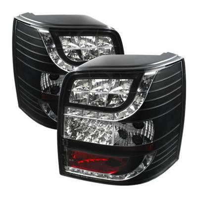 Spyder Auto - Volkswagen Passat Spyder LED Taillights - Black - ALT-YD-VWPAT01-5D-LED-BK