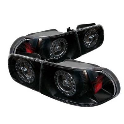 Spyder Auto - Honda Civic 2DR & 4DR Spyder LED Taillights - Black - ALT-YJ9295TLZ4-24D-BK-LED