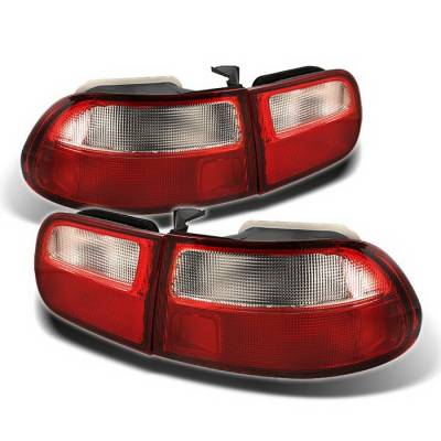 Spyder Auto - Honda Civic HB Spyder Taillights - Red Clear - ALT-ZO-HC92-3D-RC