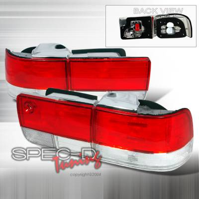 Spec-D - Honda Accord 4DR Spec-D Taillights - Red & Clear - LT-ACD924RPW-DP