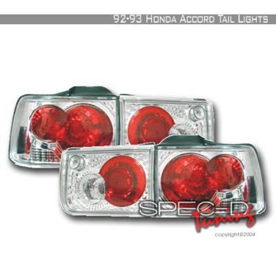 Spec-D - Honda Accord 4DR Spec-D Altezza Taillights - Chrome - LT-ACD92-KS