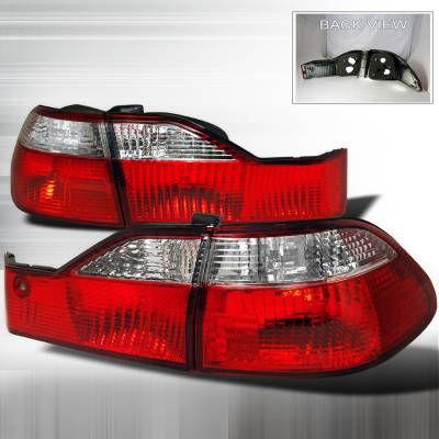 Spec-D - Honda Accord 4DR Spec-D Taillights - Red & Clear - LT-ACD984RPW-DP