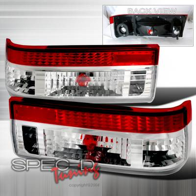 Spec-D - Toyota Corolla Spec-D Altezza Taillights - Red & Clear - LT-AE86RPW-TM