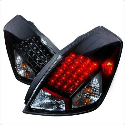 Spec-D - Nissan Altima Spec-D LED Taillights - Black - LT-ALT074G2JMLED-DP