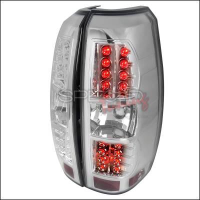 Spec-D - Chevrolet Avalanche Spec-D Chrome LED Taillights - LT-AVA07CLED-TM