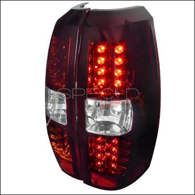 Spec-D - Chevrolet Avalanche Spec-D LED Taillights - Red & Clear Lens - LT-AVA07RLED-TM