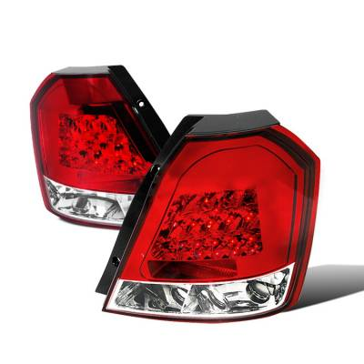Spec-D - Chevrolet Aveo Spec-D LED Taillights - Red - LT-AVE04RLED-TM