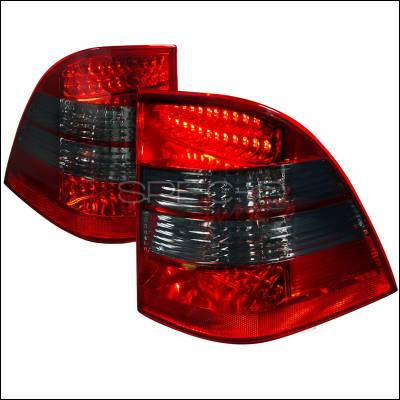Spec-D - Mercedes-Benz ML Spec-D LED Taillight - Red & Smoke - LT-BW16398RGLED-APC
